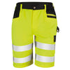 Result Safe-Guard Safety Cargo Shorts Fluorescent Yellow