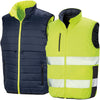 Result Safe-Guard Reversible Soft Padded Safety Gilet Fluorescent Yellow / Navy