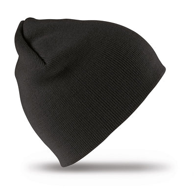 Result Winter Essentials RC44 Pull On Soft Feel Acrylic Hat Black