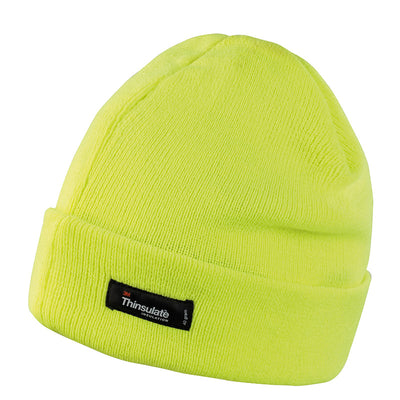 Result Winter Essentials RC133X Lightweight Thinsulate Hat Hi-Vis Yellow
