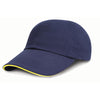 Result Headwear RC24P Low Profile Heavy Brushed Cotton Cap Navy / Yellow