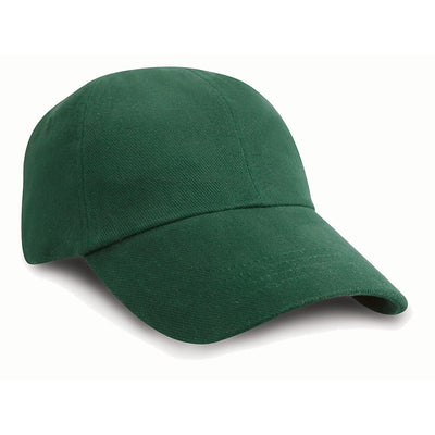 Result Headwear RC24J Children's Low Profile Heavy Brushed Cotton Cap Forest Green