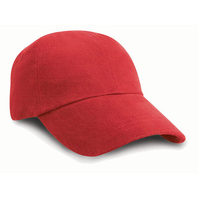 Result Headwear RC24J Children's Low Profile Heavy Brushed Cotton Cap Red