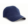Result Headwear RC25P Pro-Style Heavy Brushed Cotton Cap Navy / Natural