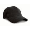 Result Headwear RC25 Pro-Style Brushed Cotton Cap Black