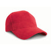 Result Headwear RC25 Pro-Style Brushed Cotton Cap Red