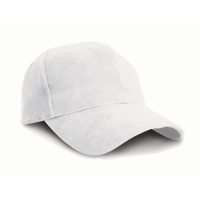 Result Headwear RC25 Pro-Style Brushed Cotton Cap White