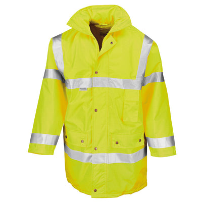 Result Safe-Guard Motorway Coat Hi-Vis Yellow
