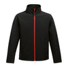 Regatta Standout Softshell Jacket Ablaze Black & Red TRA628