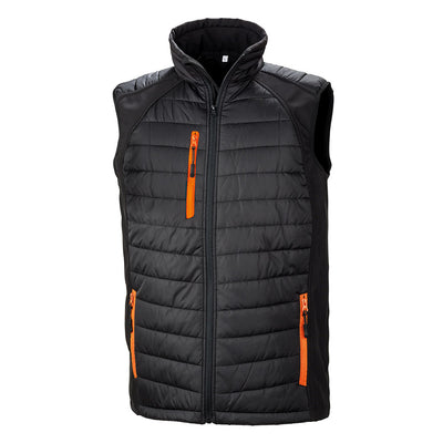 Result Bodywarmer Jacket Black & Orange R238X