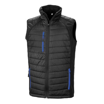 Result Bodywarmer Jacket Black & Royal R238X