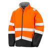 Result Hi Vis Orange Softshell Jacket Front R450X