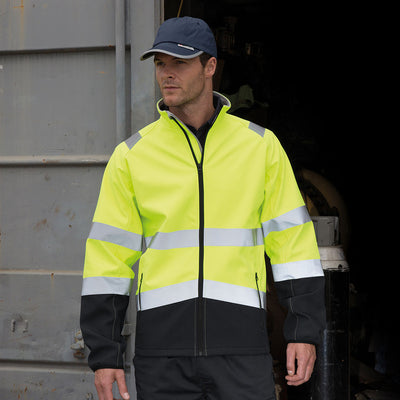 Result Hi Vis Yellow Softshell Jacket Lifestyle R450X