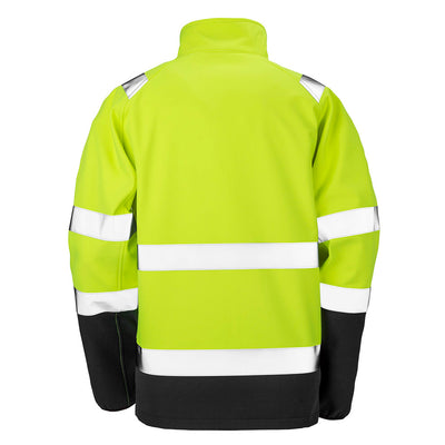 Result Hi Vis Yellow Softshell Jacket Back R450X