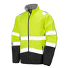 Result Hi Vis Yellow Softshell Jacket Front R450X