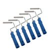 Pack of six finned rollers for fibreglass laminating