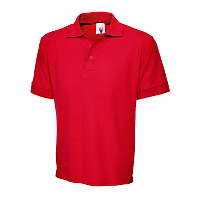 Uneek UC104 Ultimate Cotton Polo Shirt Red