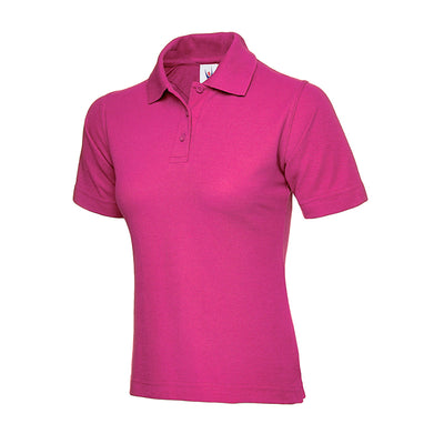 Uneek UC106 Ladies Polo Shirt Hot Pink