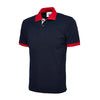 Uneek UC107 Contrast Polo Shirt Navy / Red