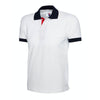 Uneek UC107 Contrast Polo Shirt White / Navy