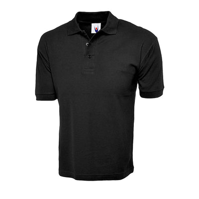 Uneek UC112 Cotton Rich Polo Shirt Black