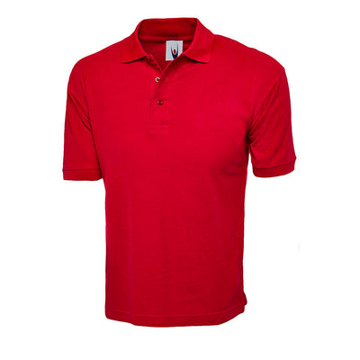 Uneek UC112 Cotton Rich Polo Shirt Red