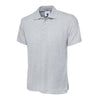 Uneek UC124 Olympic Polo Shirt Heather Grey