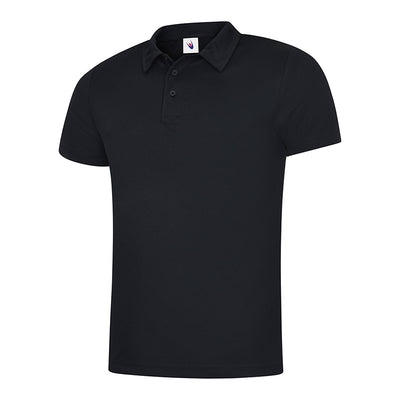 Uneek UC125 Mens Ultra Cool Polo Shirt Black