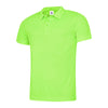 Uneek UC125 Mens Ultra Cool Polo Shirt Electric Green