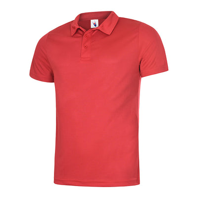 Uneek UC125 Mens Ultra Cool Polo Shirt Red