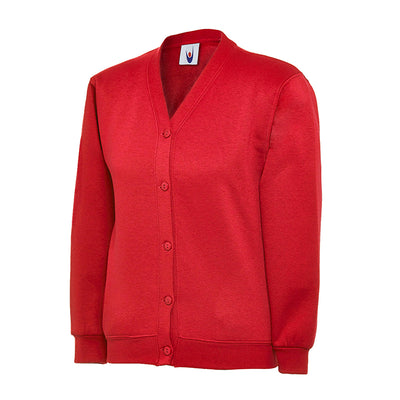 Uneek UC207 Children's Cardigan Red