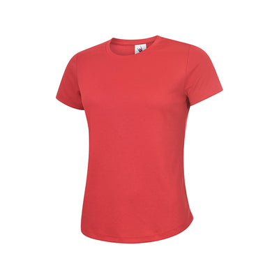 Uneek UC316 Ladies Ultra Cool T-Shirt Red