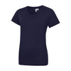 Uneek UC319 Ladies Classic V Neck T-Shirt Navy