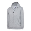 Uneek UC506 Childrens Classic Full Zip Hooded Sweatshirt Heather Grey