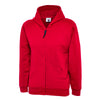 Uneek UC506 Childrens Classic Full Zip Hooded Sweatshirt Red