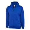 Uneek UC506 Childrens Classic Full Zip Hooded Sweatshirt Royal