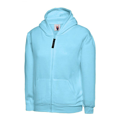 Uneek UC506 Childrens Classic Full Zip Hooded Sweatshirt Sky