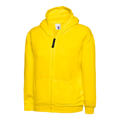 Uneek UC506 Childrens Classic Full Zip Hooded Sweatshirt Yellow