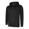 Uneek UC509 Deluxe Hooded Sweatshirt Black