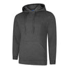 Uneek UC509 Deluxe Hooded Sweatshirt Charcoal
