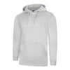 Uneek UC509 Deluxe Hooded Sweatshirt Heather Grey