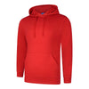 Uneek UC509 Deluxe Hooded Sweatshirt Red