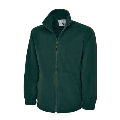 Uneek UC601 Premium Full Zip Micro Fleece Jacket Bottle Green