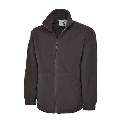 Uneek UC601 Premium Full Zip Micro Fleece Jacket Charcoal