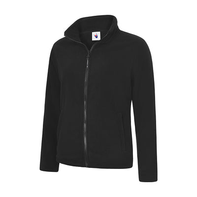 Uneek UC608 Ladies Classic Full Zip Fleece Jacket Black