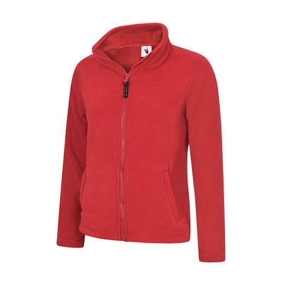 Uneek UC608 Ladies Classic Full Zip Fleece Jacket Red