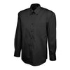 Uneek UC701 Mens Pinpoint Oxford Full Sleeve Shirt Black
