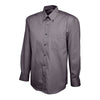 Uneek UC701 Mens Pinpoint Oxford Full Sleeve Shirt Charcoal