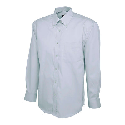 Uneek UC701 Mens Pinpoint Oxford Full Sleeve Shirt Light Blue