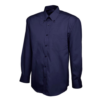 Uneek UC701 Mens Pinpoint Oxford Full Sleeve Shirt Navy